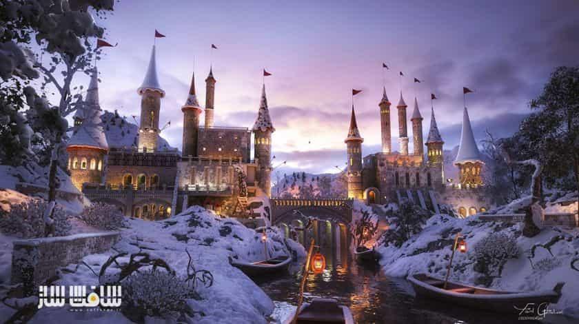 آموزش ساخت قلعه در برف