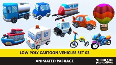 Photo of دانلود پکیج مدل سه بعدی وسایل نقلیه کارتونی Low poly