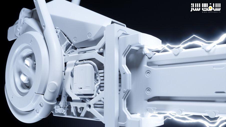 آموزش مدلسازی سطوح سخت اره برقی در مایا