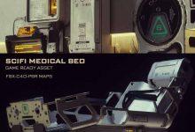 دانلود مدل سه بعدی تخت خواب پزشکی علمی تخیلی
