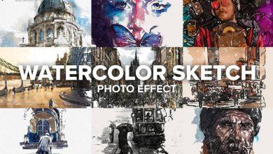 دانلود اکشن Watercolor Sketch Photo Effect