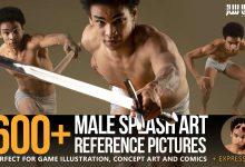 دانلود 600 تصاویر رفرنس ژست های هنری مردانه
