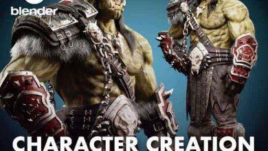 آموزش ساخت کامل کاراکتر Orc در نرم افزار Blender