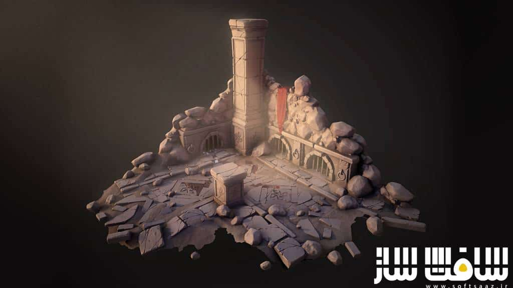 دانلود آموزش Digital-Tutors – Sculpting a Stylized Game Environment in ZBrush and 3ds Max