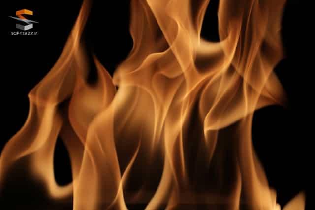 تکسچر شعله آتش