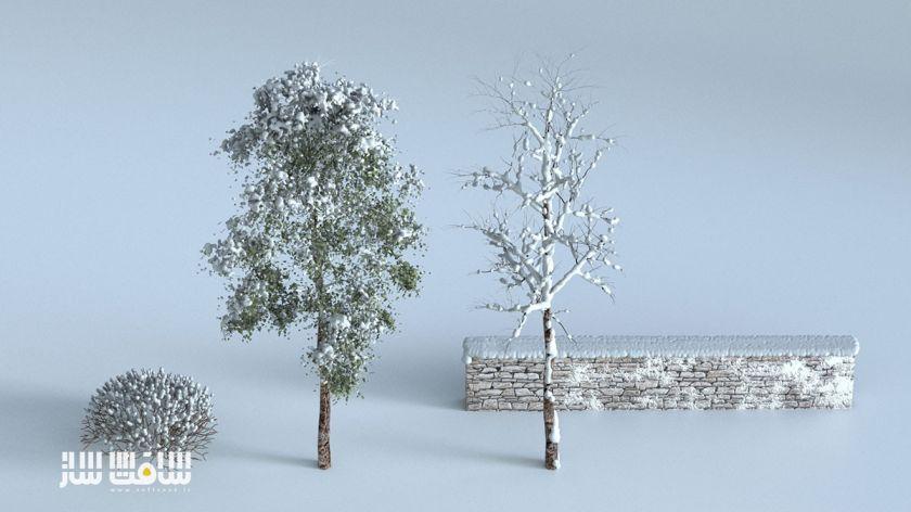 مدل کردن انواع درختان و دیوار ساده