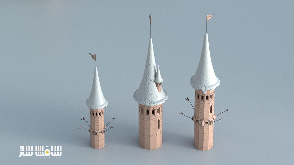 مدل قلعه های ساخته شده
