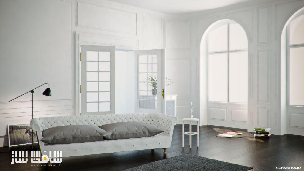 Antique Interior VrayForC4D Edition