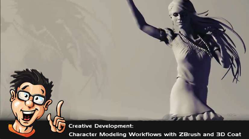Digital Tutors - Creative Development: Character Modeling Workflows with ZBrush and 3D Coat
