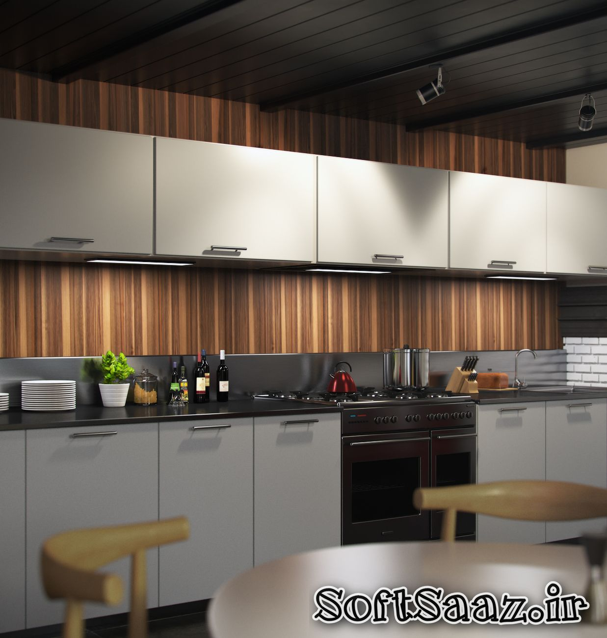 آموزش نورپردازی داخلی در Vray از شرکت Aleso3D