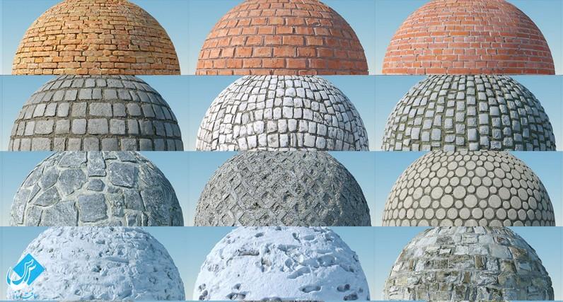 مجموعه تکسچر سنگ