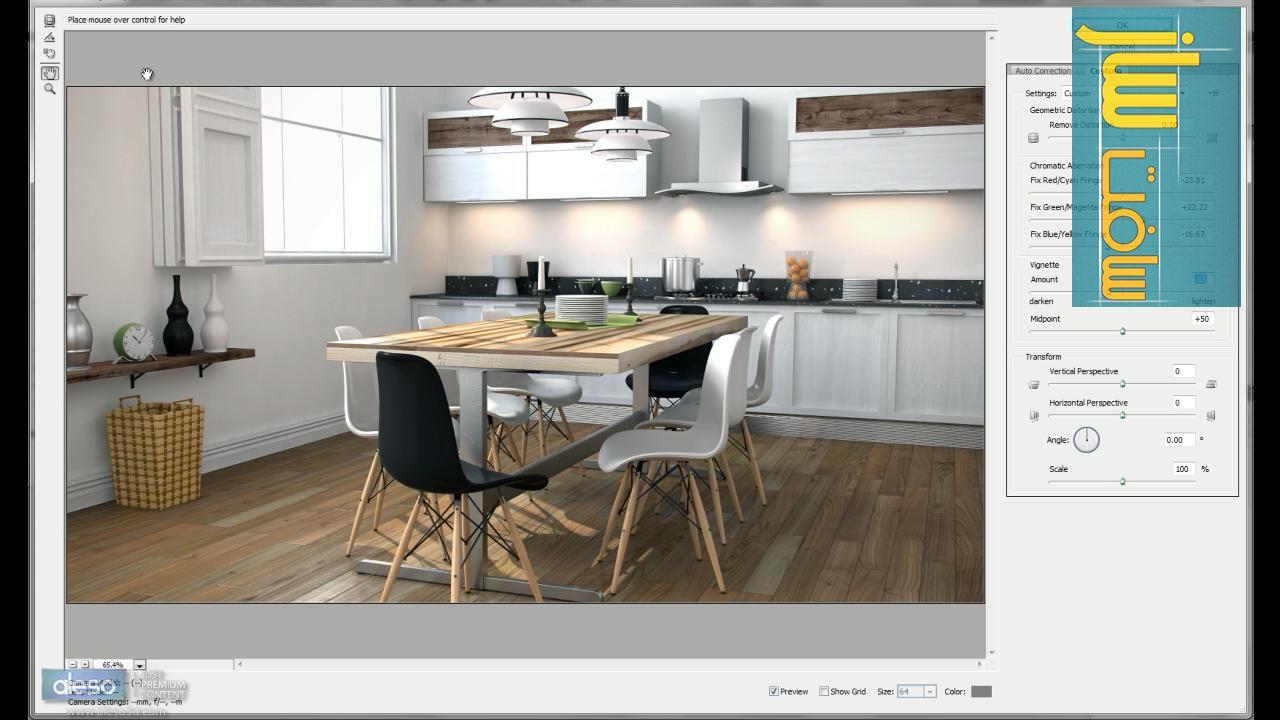 آموزش طراحی یک صحنه داخلی در 3ds Max 2011 شرکت Aleso3D