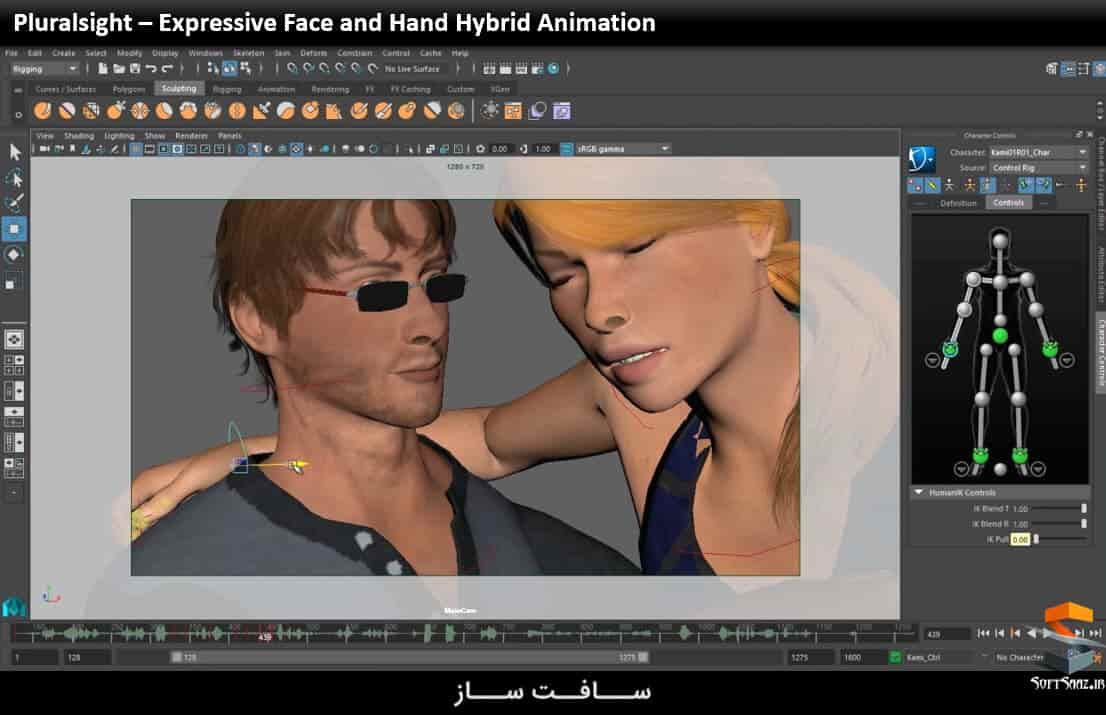 Expressive Face and Hand Hybrid Animation