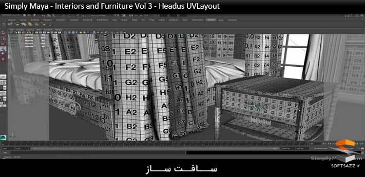 Simply Maya - Interiors and Furniture Vol 3 - Headus UVLayout