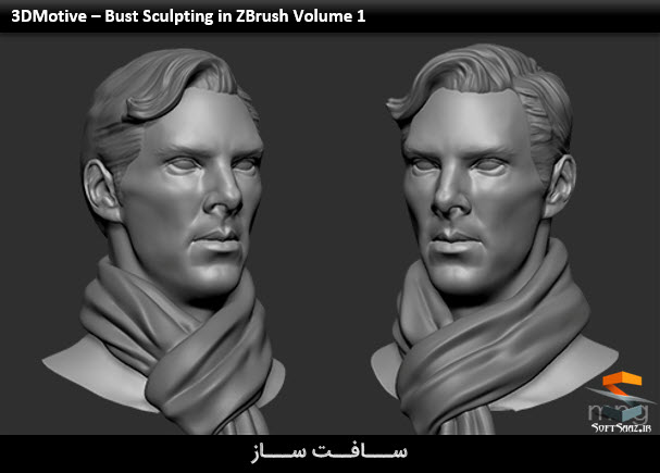 3DMotive – Bust Sculpting in ZBrush Volume 1