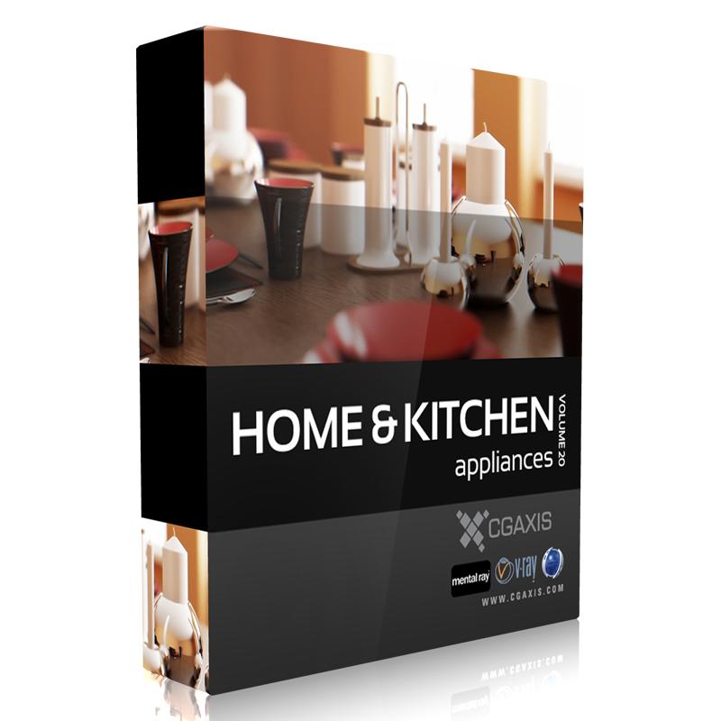 مدل های لوازم خانگی و آشپزخانه از CGAXIS